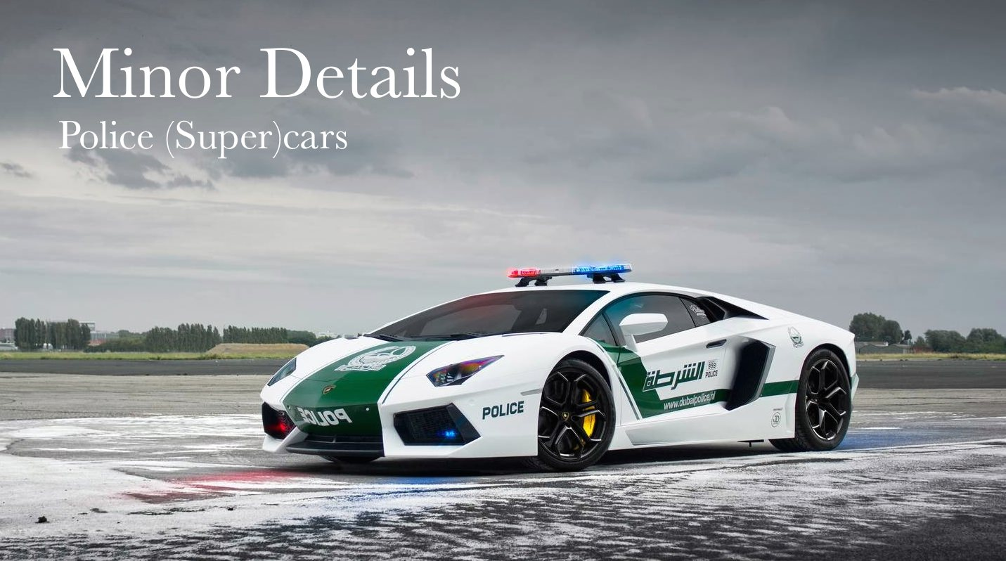 Island Detail And Color | Minor Details Police (Super)cars