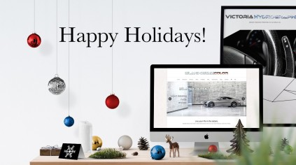 Happy Holidays From Island Detail & Color