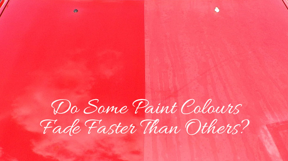 Do Some Paint Colours Fade Faster Than Others