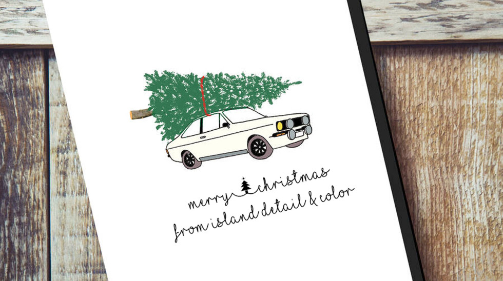 Original Your Car Christmas Card Personalised